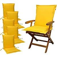 Cuscini Per Sedia Da Giardino.Cuscini Gialli Cuscini Per Sedie Da Giardino Amazon It