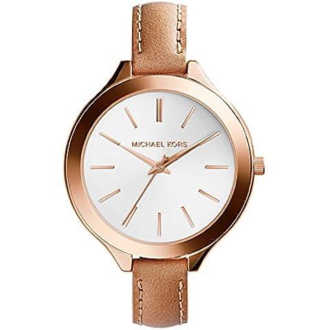Michael Kors MK2284 - Reloj de cuarzo con correa de piel para mujer, color blanco