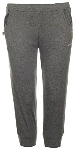 Mesdames léger Interlock Pantalon Survêtement pour Femme Longueur 3/4 Gris foncé