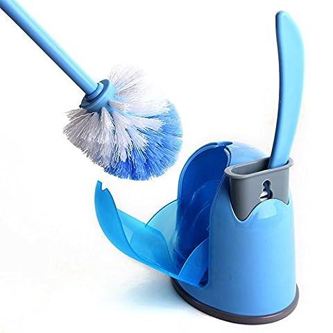 Lugii Cube Creative de salle de bain 2Groove Nettoyant pinceaux + Support avec base antidérapante Ménage outils Hideaway Compact Brosse de WC