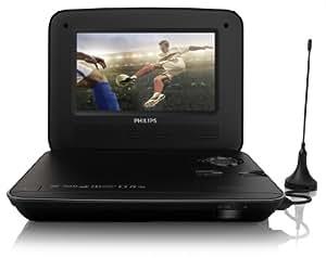 Philips PD7015/12 Lecteur DVD portable Noir