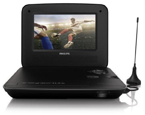 Philips PD7015/12 tragbarer DVD-Player (LCD-Display, integr. digitaler TV-Receiver, DVB-T Tuner, USB-Anschluss) schwarz Philips Digital-receiver