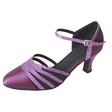 Silence @ pour femme Bout fermé salle de bal Chaussures de danse Violet