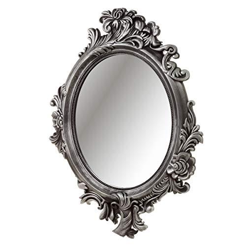 Espejo Cornucopia plástico Gris clásico salón 70