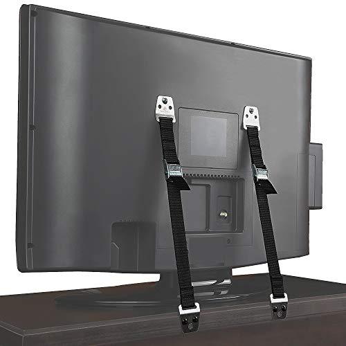 Verstellbare Riemen für Fernseher und Möbel, Kippschutz, strapazierfähig, kein Kippen, Sicherheitsgurt, Anti-Kipp-Prävention und Erdbeben-Schutz, sicher an TV-Ständern und Wänden