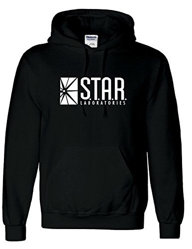 Ispirato Star Laboratori hoodie-the Flash TV Serie S.T.A.R. Labs Felpa con cappuccio Top Black Small