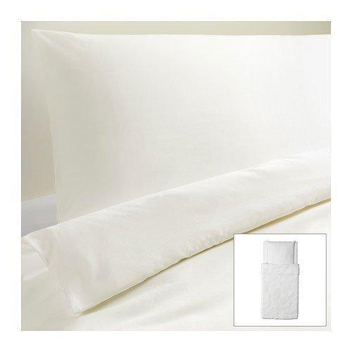 IKEA DVALA Bettwäscheset in weiß; 2tlg. (140x200cm und 80x80cm); Kopfkissen und Bettbezug; 100% Baumwolle