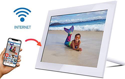 WiFi Cadre Photo Numérique 10 Pouces Haute Résolution 1280 x 800 16:10 IPS Afficher Photos