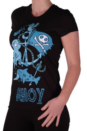 Cosmic - T shirt dessin pirate - Ahoy - Femme Noir