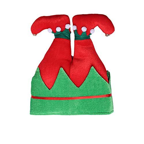 PoeHXtyy Elf Hut lustige Santa Hut Neuheit Kostüm Hut Crazy Hüte Halloween Xmas Urlaub Party Kostüm begünstigt Geschenke (Lustige Santa Kostüm)