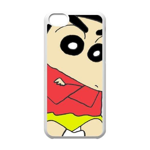 Crayon Shin Chan coque iPhone 5C Housse Blanc téléphone portable couverture de cas coque EBDXJKNBO16655