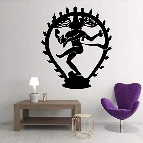 guijiumai The Hindu God of Destruction Shiva Adesivi murali Decorazioni per la casa Religione Indiana Induismo Stickers murali Vinile Soggiorno Decorazione 8 69cmx59cm