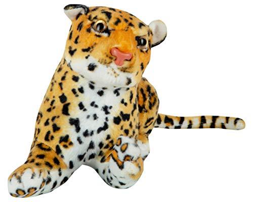 Soft Toys Stuff Toys Leopard #Alpha, Brown, Soft Fiber, 32cm, one Piece.