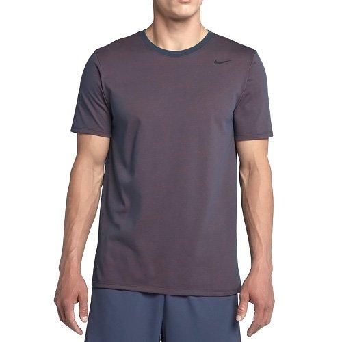 Nike Herren Dri-Fit Cotton Kurzarm 2.0 T-Shirt, blau (thunder blue/hyper crimson/heather/Black), M