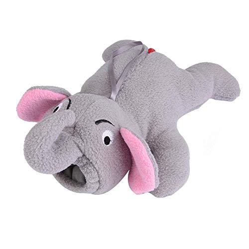 Bolsa de alimentación térmica, Forma de elefante para niños Botella de leche Mantener el soporte caliente Bolsa de felpa Cubierta Bolsa de alimentación térmica