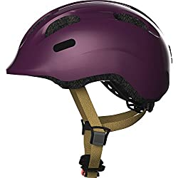 ABUS – Casco de bicicleta para niños Casco Smiley 2.0 Royal PURBLE 45 – 50 cm