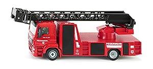 Siku 52.002.114 Kit de Montaje Modelo a Escala de camión de Bomberos Modelo de vehículo de Tierra - Siku 52.002.114, Kit de Montaje, Modelo a Escala de camión de Bomberos, Man Aerial Ladder, Rojo,