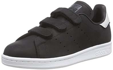 adidas Stan Smith CF, Chaussures de Skateboard Adulte Mixte - Noir - Schwarz (Core Black/Core Black/Dgh Solid Grey), 47 1/3
