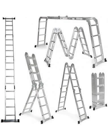Grandmaster - Escalera Multifunción de aluminio 5,75M Plegable 6 en 1 Multiuso -...