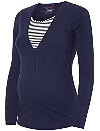 ESPRIT Women's Long-Sleeved Maternity Top Navy (440) L 40/42