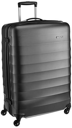 American Tourister Polyester 79 cms Gunmetal Hardsided Suitcase (71W (0) 58 003)