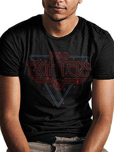 CID Foo Fighters-Disco Outline Camiseta, Negro Black, XX-Large...