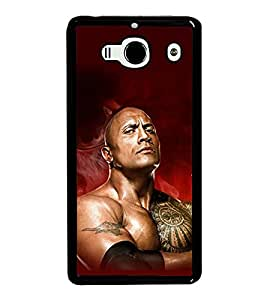 printtech The Rock WWE Back Case Cover for Xiaomi Redmi 2S::Xiaomi Redmi 2::Xiaomi Redmi 2 Prime