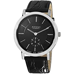 Axcent Unisex-Armbanduhr Ambassador Analog Quarz Schwarz IX20223-237