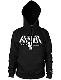 Officiel Marvel The Punisher Logo Hoodie Noir Pull à Capuche