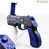 HOOX AR Gun Augmented Virtual Reality VR 18 Game Controller for iOS Apple Android Smartphones (Black and Blue)