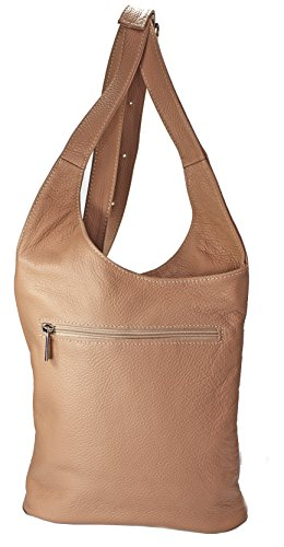 fe3e4f75e37b8 Echt Leder Damentasche Handtasche Ledertasche Schultertasche Umhängetasche ( blau) rosa ...