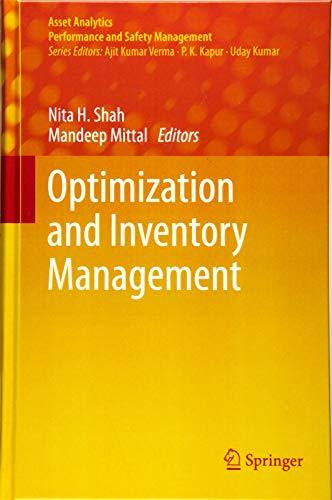 Optimization and Inventory Management (Asset Analytics)