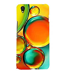 Colourful Bubbles 3D Hard Polycarbonate Designer Back Case Cover for OnePlus X :: One Plus X :: One+X
