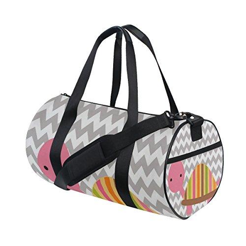 Schildkröte-haar-bürste (jstel Chevron Schildkröte Muster Sports Gym Tasche für Frauen und Herren Duffle Reisetasche)