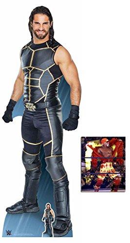 BundleZ-4-FanZ by Starstills Seth Rollins WWE Wrestler Lebensgrosse und klein Pappaufsteller mit 25cm x 20cm foto
