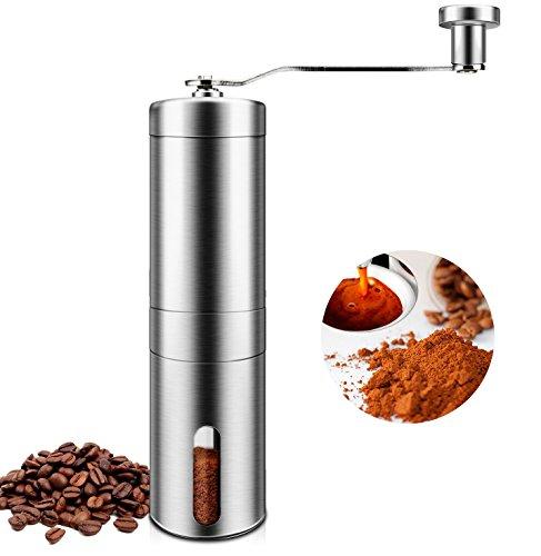 Manuelle Kaffeemühle - Tragbare Kaffeemühlen aus Edelstahl - Hand Mahlen Bohnen Gewürze und Nüsse