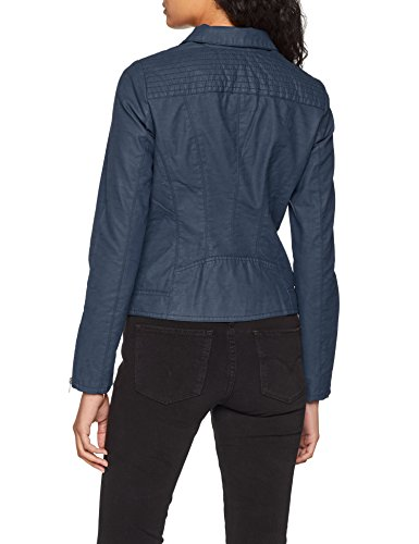 ONLY Damen Jacke onlSAGA Faux Leather Biker CC OTW, Blau Insignia Blue, 34 - 2
