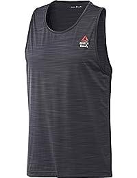 Reebok Rcf Activchill Tank Camiseta de Tirantes, Hombre, Gris (Lead), M