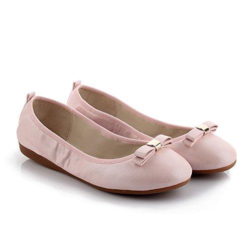 Adee nœuds pour femme Polyuréthane Pompes Chaussures Rose