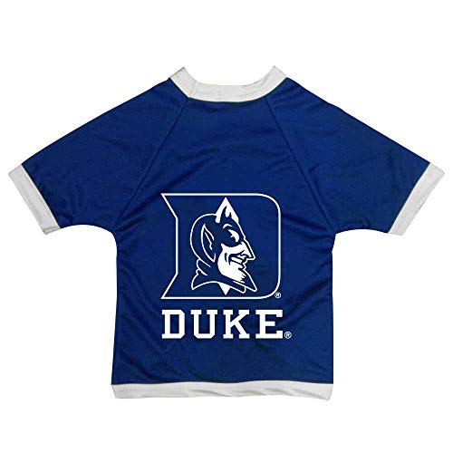 All Star Dogs NCAA Duke Blue Devils Athletic Mesh Dog Jersey, Unisex-Erwachsene, Team Color, Small (Devil Dog Pet Costume)