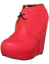 Iron Fist Tigre Wedge-red, Damen Halbschuhe