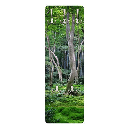 Apalis 79082 Wandgarderobe Japanischer Wald | Design Garderobe Garderobenpaneel Kleiderhaken Flurgarderobe Hakenleiste Holz Standgarderobe Hängegarderobe | 139x46cm
