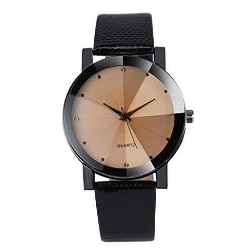 Preisvergleich Produktbild Damenuhren,  Kingwo New Luxury Quarz Sport Military Edelstahl Zifferblatt Lederband Armbanduhr Männer (B)