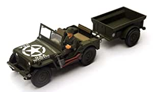 Forces of Valor US General Purpose Vehicle Jeep Willys et Remorque 1/32 Maquette 81008