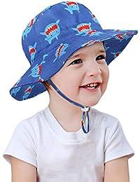 Alleza Cappello di Protezione Solare Sole Bambino Neonati Piccolo Bambini  50+ Adattabile con sottogola a 3e02de25f210