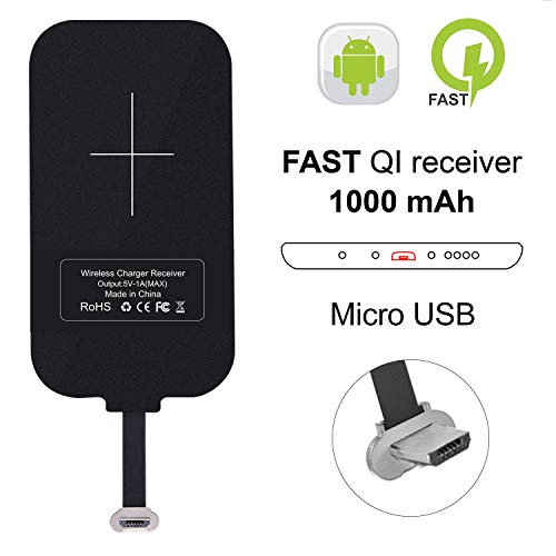 Nillkin Wireless-Ladegerät-Empfänger,Wireless Charger Receiver, Magic Tag Qi Wireless-Ladegerät Patch-Modul Chip für Samsung A8, Huawei Mate8 und andere Micro USB schmal-Side-up Qi-Enabled Devices