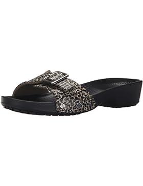 crocs Damen Sarahlprdsndlw Offene Sandalen mit Keilabsatz