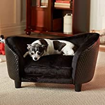 Encantado casa Ultra Plush Snuggle cama, negro