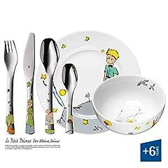 Idea Regalo - WMF Il Piccolo Principe Posate per Bambini, Acciaio Inossidabile, Porcellana, Multicolore, 6 Pezzi