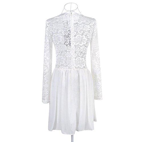 Elite99® - Robe - Fille moyen Blanc